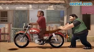 Hasil gambar untuk dorong motor kartun